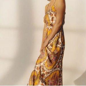 Anthropologie Akemi Kin Medallion Maxi Dress S